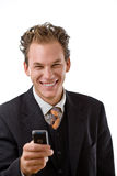 Businessman with mobile phone Stock Photo