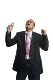 Businessman with a mobile phone Royalty Free Stock Photo