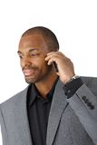 Businessman on mobile phone call Stock Image