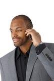 Businessman on mobile phone call Stock Image