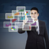 Businessman and modern graph Stock Photography