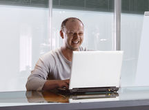 Businessman in the modern office Stock Photography