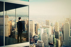 Businessman in the modern office building Royalty Free Stock Photo