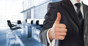Businessman in modern office Stock Image