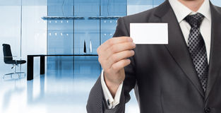 Businessman in modern office Royalty Free Stock Images