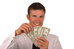 Businessman and  money Royalty Free Stock Image