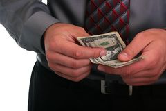 Businessman and money Stock Photos