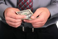Businessman and money Stock Image