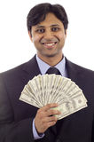 Businessman with Money Royalty Free Stock Photos