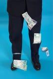 Businessman and money Stock Photos