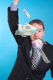 Businessman and money Royalty Free Stock Images