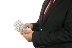 Businessman and money Royalty Free Stock Photos