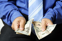 Businessman and money Royalty Free Stock Photo