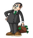 Businessman Money Bag Royalty Free Stock Photo