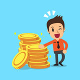 Businessman with money coins. For design Stock Image
