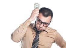 Businessman with Money Stock Photo