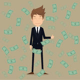 Businessman with money.eps10.vector Royalty Free Stock Images