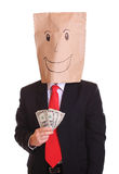 Businessman with money royalty free stock image