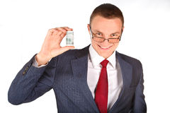 Businessman with money Stock Photos