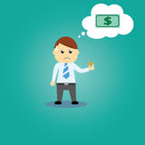 Businessman And Money Stock Photography