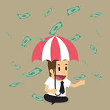 Businessman with money Royalty Free Stock Photography