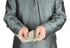 Businessman with money Stock Image