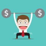 businessman with money workout Stock Photos