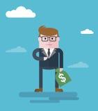 Businessman_with_moneybag Zdjęcie Royalty Free
