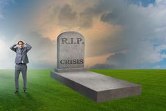 The businessman mourning the crisis in economy. Businessman mourning the crisis in economy Stock Image