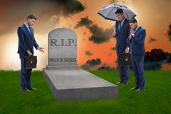 The businessman mourning the death of success. Businessman mourning the death of success Royalty Free Stock Photos