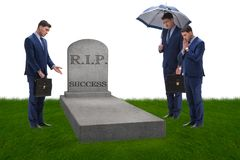 The businessman mourning the death of success. Businessman mourning the death of success Royalty Free Stock Photo