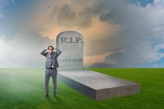 The businessman mourning the death of success. Businessman mourning the death of success Stock Photos
