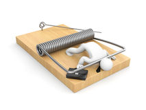 Businessman on mousetrap Stock Image