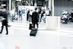 Businessman on the move Royalty Free Stock Images