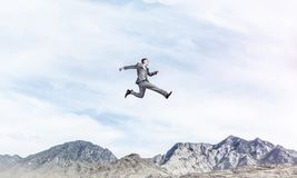 Businessman on the move. royalty free stock images