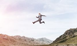 Businessman on the move. Stock Photo