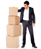 Businessman moving Royalty Free Stock Photo