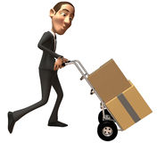 Businessman moving Royalty Free Stock Photography