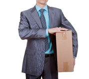 Businessman moving concept Stock Image