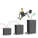 Businessman moving forward no matter what vector illustration