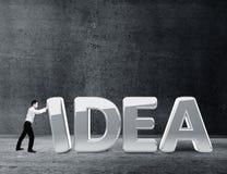 Businessman moving idea Stock Photography