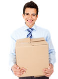 Businessman moving office Royalty Free Stock Photos