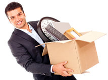 Businessman moving office Royalty Free Stock Photo