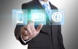 Businessman multimedia concept Stock Images