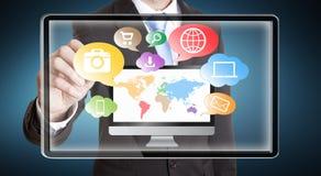 Businessman multimedia concept Stock Photo