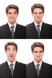Businessman with multiple expressions Royalty Free Stock Image