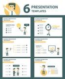 Businessman multipurpose infographic element flat design set Royalty Free Stock Photography