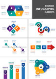 Business multipurpose infographic element flat design set Royalty Free Stock Image