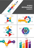 Business multipurpose infographic element flat design set Royalty Free Stock Image