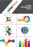 Business multipurpose infographic element flat design set. Businessman multipurpose infographic element templates flat design set for brochure flyer advertising Royalty Free Stock Image